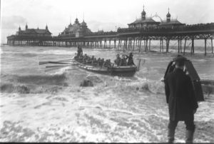 Lifeboat and Pier, St Annes on Sea c.1920